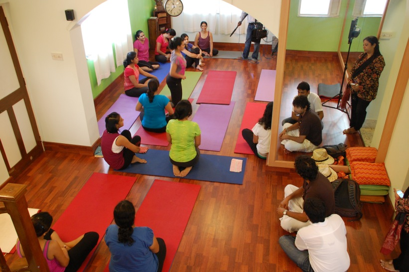 Fox Traveller Channel Covering Namrata's World of Yoga ,Goa, 24 Sept 2012