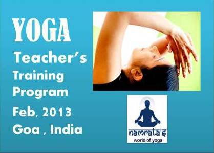Yoga Teachers Training Program @ Namrata's World of Yoga, Goa, India